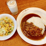 かれー屋伊東 - 料理写真:カレー中盛り ミニセット