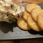 串焼き。ビストロガブリ - 無花果と甘納豆のマスカルポーネチーズ和え