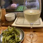串焼き。ビストロガブリ - グラスワイン