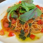 Urth Caffe - Basil Pesto Tomato Sauce Pasta