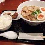 天下GO麺 高茶屋店 - うまこくラーメン全盛 650円 プラスからあげセット 100円
