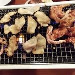 天下GO麺 高茶屋店 - くび(せせり) 370円、 かわ 250円、若鳥 350円