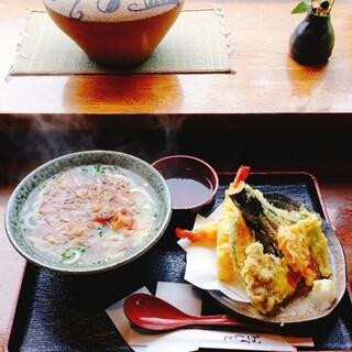 手打ちうどんZ - 料理写真:かけうどん  天ぷら盛り合わせ