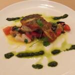 Felicita Pizzeria Torattoria - 鮮魚のソテーお魚に合わせたソースで(ハーフ)