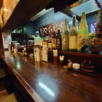 活麺富蔵 - 店内カウンター