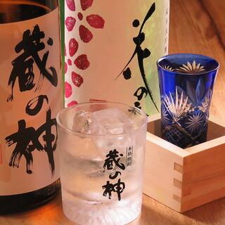 地酒など焼酎や日本酒も