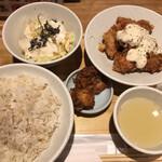 酉しみず - チキン南蛮定食 (*´-`) 唐揚げ追加