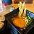 博多うどん酒場 官兵衛 - 料理写真:丸天ごぼううどん+かしわおむすび