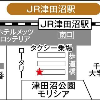 無料シャトルバス/津田沼駅発/停留所、時刻表はこちら