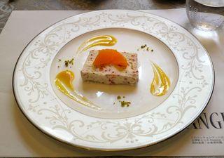マンジャーレ 千葉 - ハイビスカスと柑橘類のセミフレッド