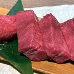 Sumibiyakinikunagomi - 上タンはかなりの厚切り。美味しいです(^.^)