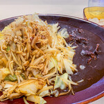 みぼうじんカレー - ビーフ野菜炒めカレー+野菜特盛+ルー大盛+大辛 1,660円