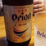 大木海産物レストラン - オリオンビール中瓶 525円