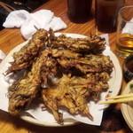大木海産物レストラン - もずくの天ぷら