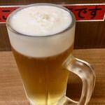 佐野屋 - 生ビール中(スーパードライ)