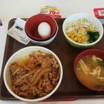 すき家 - 料理写真:牛丼(並盛)ランチセット(税込)500円 (2020.10.10)