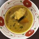 バキン - この日は南瓜とチキンのカレー ほんのりココナツミルクの甘み