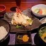 創庵 - 大きな海老マヨ定食