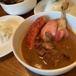 スープ カリー チョップ - 料理写真:肉全部乗せカリー