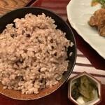 麹蔵 - 玄米ごはん 大盛り無料