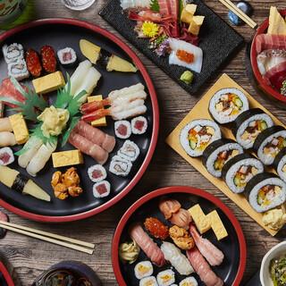 持ち帰り寿司も充実!出前やUberEatsもやってます。