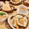 くれ~ぷTAKA - 料理写真:スペシャルランチ(カキのグラタンクレープ、ビーフコンソメスープ、春雨サラダ、トースト、マーガリン) ¥1,650