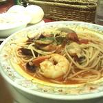 あい蘭道 - 魚介のトマトソース