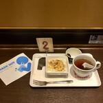ちとせやCafe - ドッグモーニングセット480円、マスクケース無料配布
