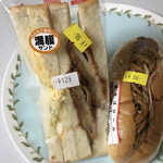 フレッシュ&ハーフプライス ベーカリー - 料理写真:調理パン2個だけ購入