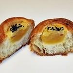 ピン・ポン・パンヤ - 「お芋のクロワッサン」 を二つに切ると