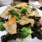 西安刀削麺 - 日替わりの野菜炒め