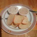 13829653 - パント豚肉のリエット(1つは細かく刻んだオリーブ入り)