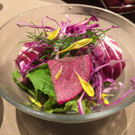 自然の薬箱 カフェ&キッチン - ランチ お魚料理(税込 1,600円)評価=◎【野菜のサラダ】