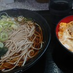 名代 富士そば - ミニカツ丼セット 580円