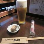 萬月 - 生ビール・お通し