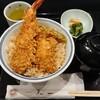 Ginzatenichi - 料理写真:大海老天丼1650円 大盛無料 赤だし220円