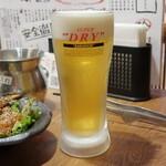 七輪焼鳥 一鳥 - スーパードライ生ビール