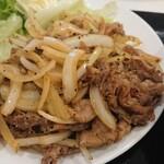 138340977 - ラム肉の生姜焼