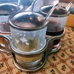 マンゴツリーカフェ - ソース3種