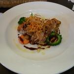 Torentotto - 若鶏のソテー 粒マスタードとバルサミコのソース(ランチ)