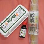 株式会社フクダ - 料理写真:頂いた高級藁納豆、那須御養卵、納豆たれ