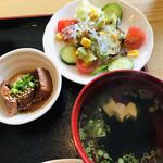 なかみち - 小鉢 吸物 野菜サラダ