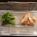 かさね - アオリイカ・白子・枝豆