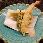 KAPPO R  - 【お造り】3種盛合せ ※現在、生モノが食べれない旨を伝えたところ、天ぷらにご変更頂きました。