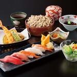海山亭いっちょう - 人気の寿司と天ぷらの御膳