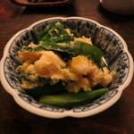 伊勢藤 - 玉子、玉蜀黍、韮の炒めもの