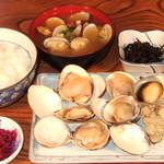 きむら - つぼ焼・焼はま定食(さざえ はまぐりは大きさにより数が変わります) 1,650円