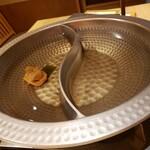 138381198 - 南高梅入り黄金昆布出汁、獺祭スパークリングの日本酒出汁