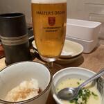 串焼 博多 松介 - お通しの茶碗蒸しも良いお味です✧︎