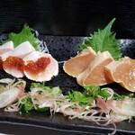 日本橋 逢鳥 - 大山鶏むね肉のたたき